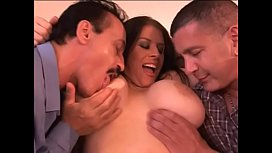 Daphne Rosen enjoys couple of cocks on in her pussy and second in her tight asshole