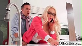 Hardcore Bang With Office Naughty Busty Girl (Nicolette Shea) video-22