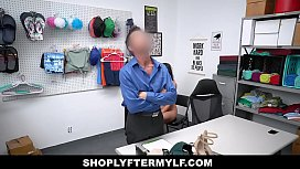 ShopLyfterMYLF - Mom With Big Boobs Caught Shop Lifting Gives Security A Blowjob