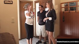 Busty Blonde Milf Charlee Chase & her hard cock hubby fuck home realtor Milf Amber Lynn Bach in this crazy household threesome! Sold! Full Video & Charlee Live  CharleeChaseLive.com!