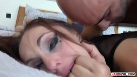 Rough anal sex with a submissive babe