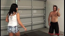 More Head Kicks and Foot Humiliation - Extreme Facebusting by Furious Brunette Mikaela