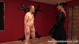 Ballbusting Hurts - Nuts Crushing Session with Merciless German Dominatrix