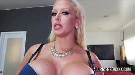 Busty MILF Alura Jenson has her big ass worshipped