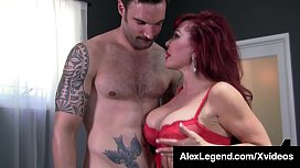 Busty Older Lady, Sexy Vanessa, stuffs her mature mouth with Alex Legend's Fat Cock, getting it nice & ready for a hard muff n stuff fuck session! Full Video & Watch Me Fuck Chicks   AlexLegend.com!