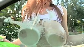 TESSA FOWLER SEXIEST CARWASH EVER SEEN !!