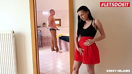 LETSDOEIT - Horny Babe Nicole Love Has Intense Sex With Her Future Father In Law