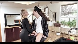 Blonde mom fucking step-son
