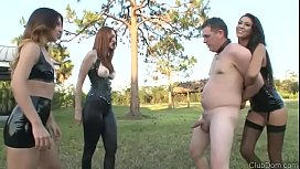 3 Mistresses Ball Busting challenge with Kendra James