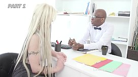 Psycho Doctor #1 Barbie Sins Coffee Break with Balls Deep Anal, Squirt, Gapes, Rose, Creampie to Swallow GIO1065