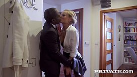Stunning Blonde Victoria Pure gets a Taxi Driver's big black cock, stuffing her pretty mouth, sexy shaved snatch & her tiny butthole with a hot Creampie Finale! Full Flick & 100's More at Private.com!