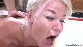 Gradute student Seth Gamble visits Deans wife London River and then he ties up her huge tits and fucks her