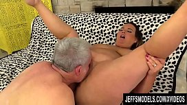 Sexy BBW Slut Scarlet Has Her Pussy Licked and Stretched by a Geezer