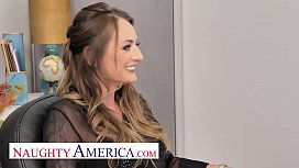 Naughty America - Natasha Starr gets pounded in the office by the recently hired new guy