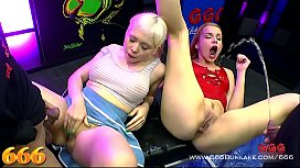 Cherry English and Rebecca Black give a great performance in this latest title from 666. Two very cute ladies who like to fuck every kind of way including a trip to the golden shower paradise. 666Bukkake
