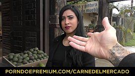 CARNE DEL MERCADO - Deep fingering and fucking with hot Latina newbie