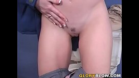 Petite Redhead Trinity Post Takes Her First BBC At A Gloryhole