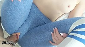 Fit young babe needs a big load of creampie through her yoga pants
