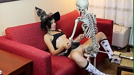 Kristine Kahill gets boned by spooky skeleton