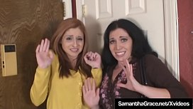 Sexy Brunette Samantha Grace & redhead Paris Kennedy get bound & gagged by crazy ex boyfriend who they end up escaping from! Full Video & Much More at SamanthaGrace.net!