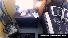 Busty Blonde Milf Julia Ann stuffs her mature magical muff with a horny spy cam cock who records the full sexual experience for everyone to enjoy! Full Video & Julia Ann Live  JuliaAnnLive.com!