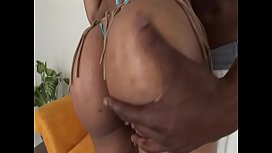 Hot black MILF with perfect arse takes big ebony cock in her asshole