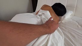 My stepmother woke up when i fucked her