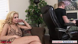 Beauty blonde Carmen Caliente fucking
