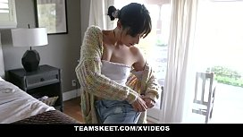 ExxxtraSmall - Teen Brat Tied up and fucked from behind