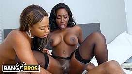 Thick black girl gets fucked then mom comes in...