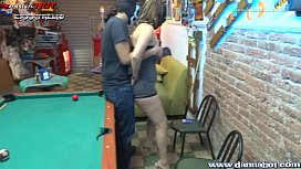 danna hot loses her buttocks in a pool game
