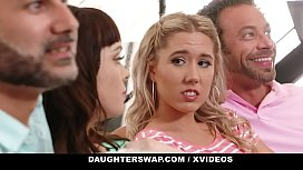 DaughterSwap - Beautiful Teens Fuck Each Other's Dads
