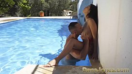 Dorian eats Julia De Lucia's luscious pussy, then pleasures her with his hard cock