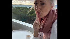 I fingered myself to orgasm on a public hotel balcony in Mallorca!