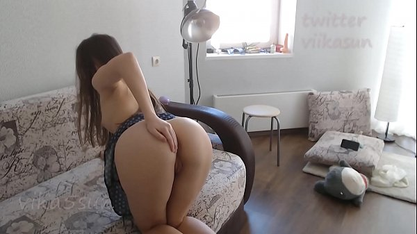 student without panties is going for a walk