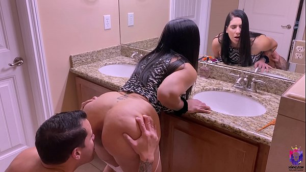 Horny big ass MILF gets fucked from the bathroom to the bed