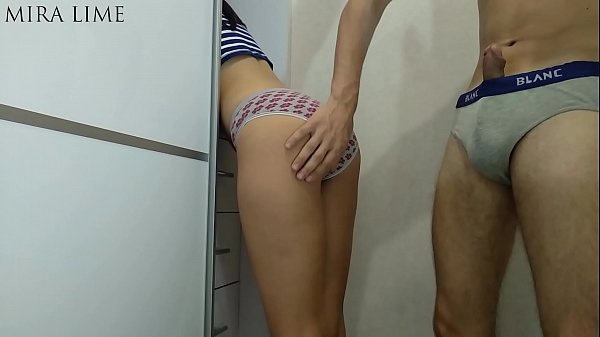 Daughter is stuck - step father fucks. Family creampie