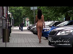 Naked in the morning city