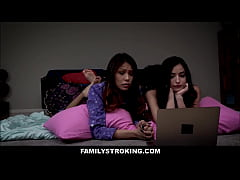 Hot Stepdaughter Emily Willis And Her Best Friend Sami Parker Threesome With Horny Stepdad During Slumber Party