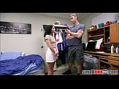 Cute Brunette College Girl Zoey Bloom Fucked Hard After Sneaking Into Dorm
