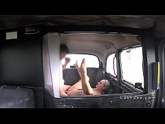 Fake taxi driver shoves cock in blonde beauty