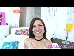Luna Lovely gets throat fucked on SWALLOWED.com