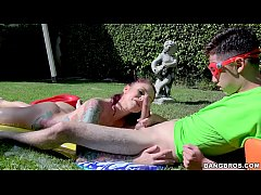 BANGBROS - Sliping and Sliding with Busty Stepm...