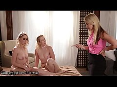 Step Mom Gets Strapped on Fucked By Two HOT Lesbian Teens
