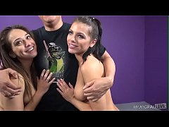 Naughty Adriana Chechik and Sara Luvv Share Cock