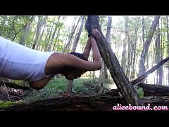 Bondage and Fucking In The Woods
