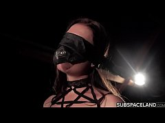 Screaming in pleasure and pain in bondage tied ...