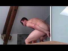 Suction cup dildo in ass