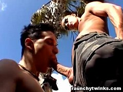 Justin And Alex Outdoor Gay Fun Times