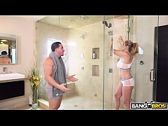BANGBROS - Big Tits MILF Stepmom Julia Ann Fucks Step Son In Shower